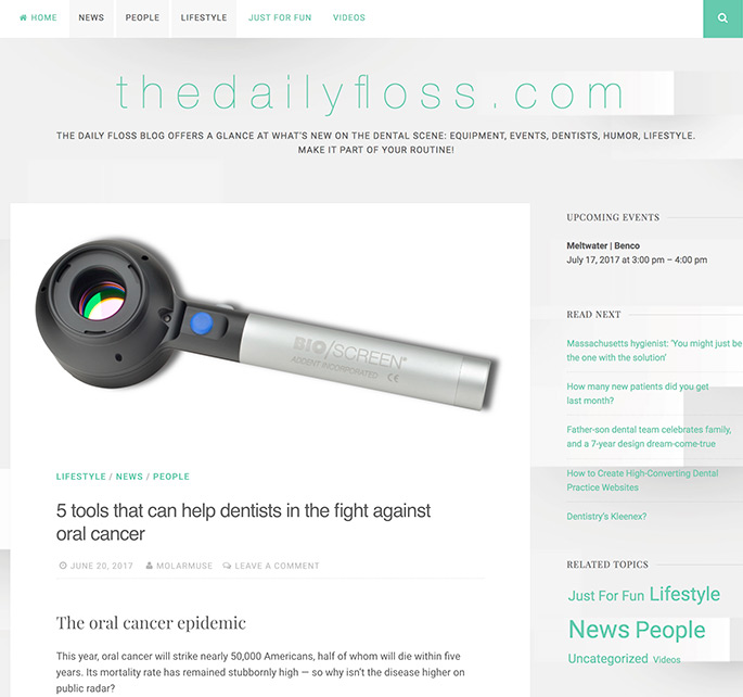 Addent, Inc. featured on The Daily Floss